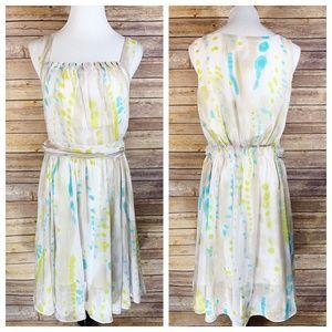 W118 by Walter Baker Blue Green Splatter Dress